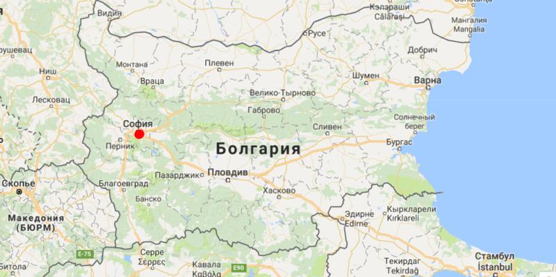 София на карте Болгарии