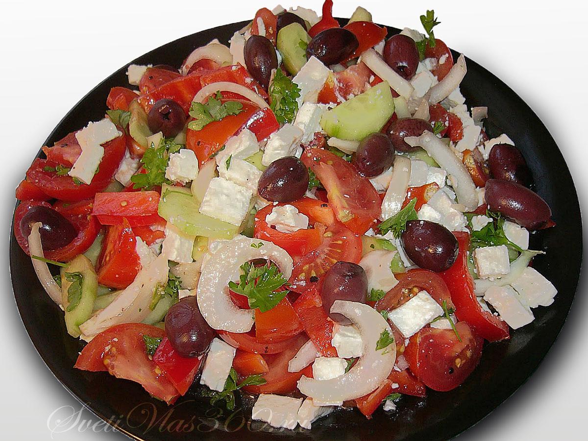 болгарская национальная кухня, шопский салат