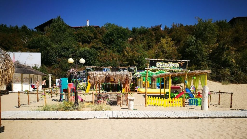 Детская площадка на пляже Венид Святой Влас Болгария