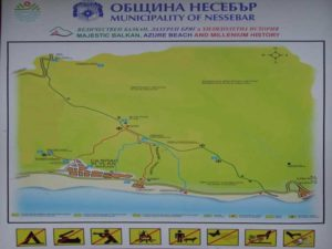 Схема маршрута по горам Святого Власа